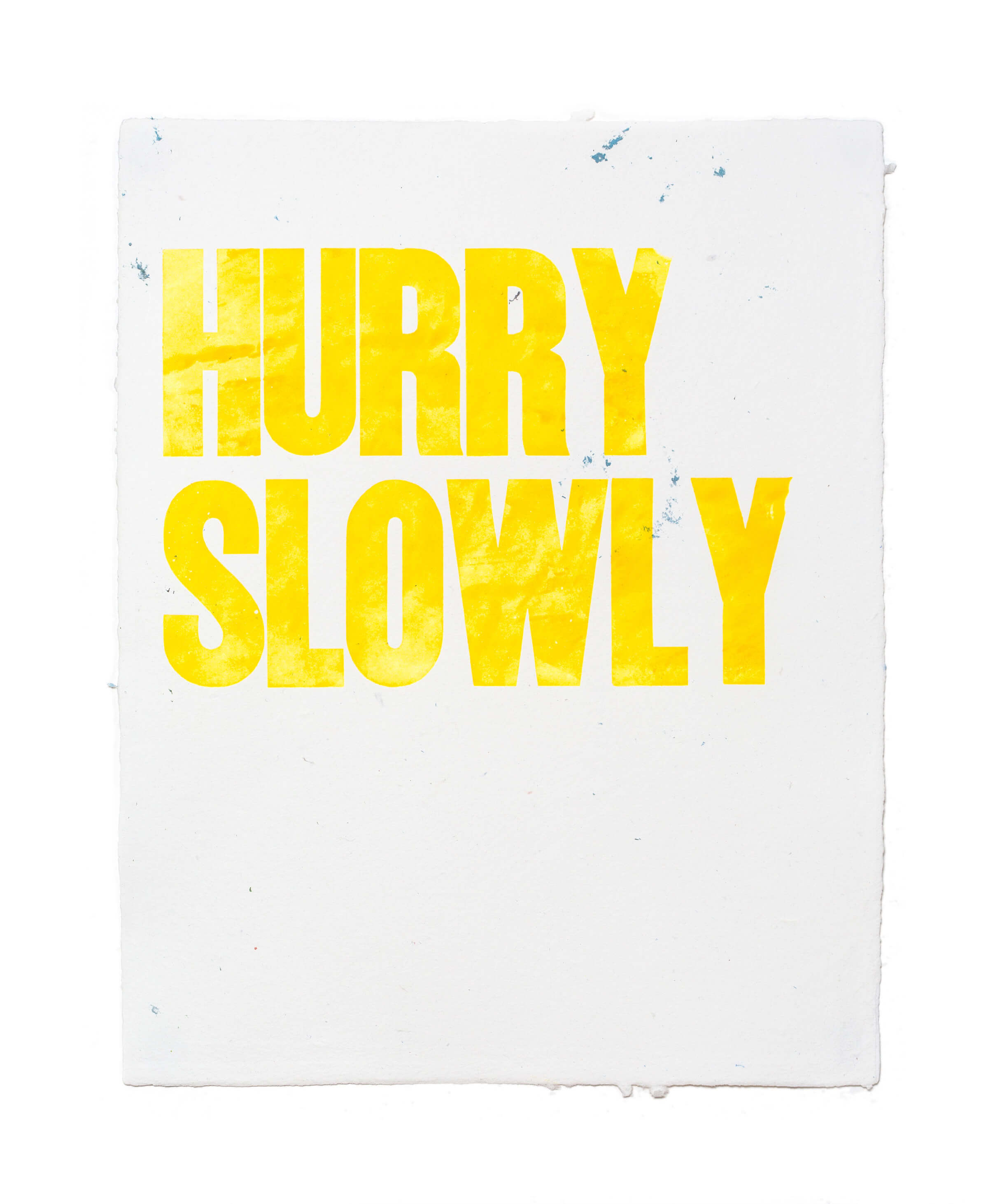 Hurry Slowly Letterpress by Emily Duong