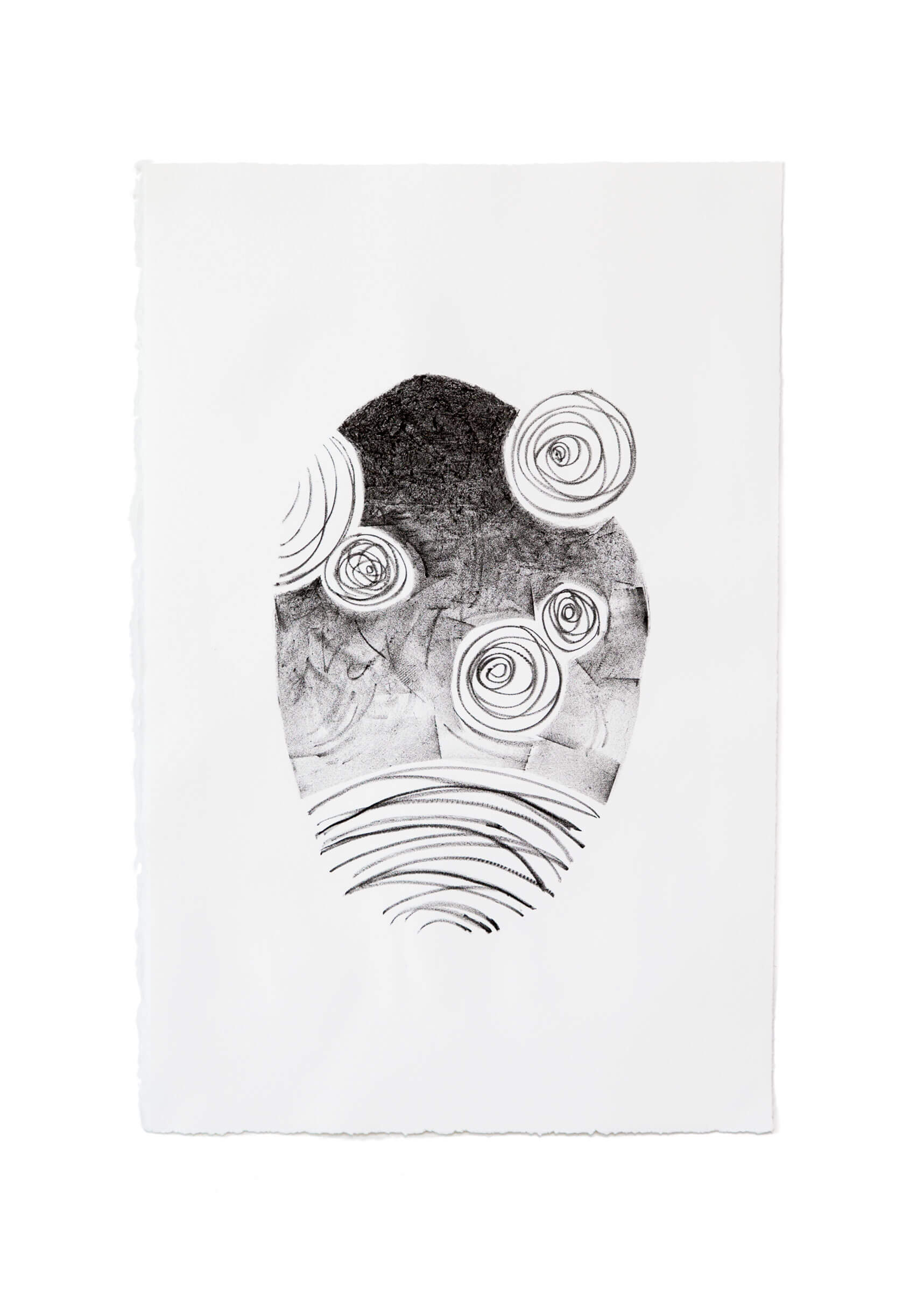 Space I - Lithograph by Emily ! Duong