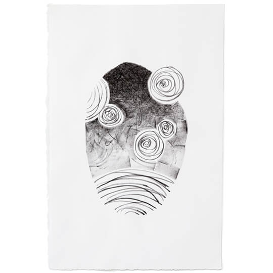 Space I Lithograph by Emily ! Duong