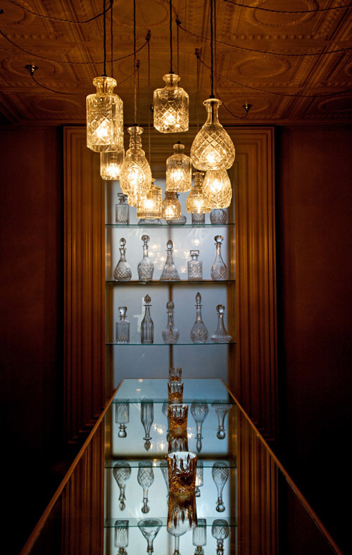 Decanter Lights at Coquine Bar
