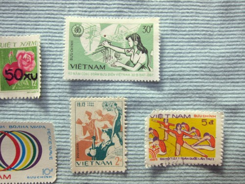 Close Up Of Propaganda Stamps