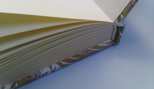 Example of a case bound book from Flickr user natalee929