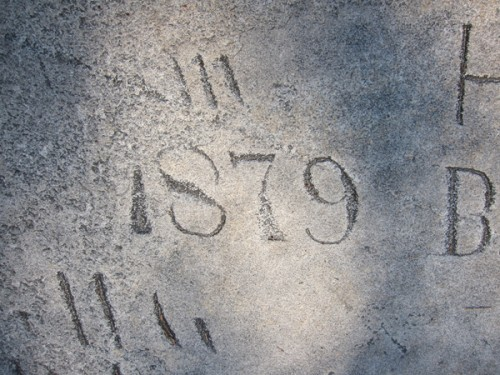 1879 'Graffiti' on Stone Mountain, GA