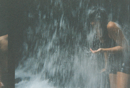 Sonia in the Waterfall