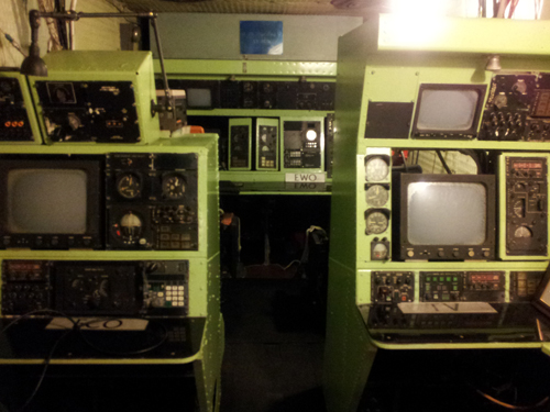 Radio & Infrared Terminals Inside the C-130
