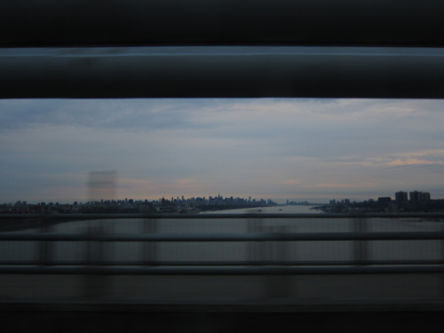 View of NYC/NJ on the ride home on George Washington Bridge