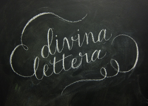 Divina Lettera - Logo Sketch On Chalk
